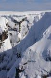 Ben Nevis in Sneeuw Stock Foto's