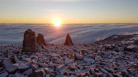Ben Nevis-wolkeninversie stock foto