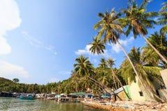 Ben Ngu nabrzeże, Nam Du Wyspa, Kien Giang prowincja, Wietnam Obrazy Royalty Free