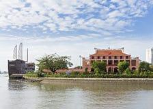 Ben Nha Rong-Hafen - Ho Chi Minh Museum stockfoto