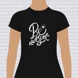 Ben ontzagwekkend motievent-shirtontwerp vector illustratie
