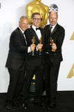 Ben Osmo, Greg Rudloff and Chris Jenkins. At the 88th Annual Academy Awards - Press Room held at the Loews Hollywood Hotel in Hollywood, USA on February 28 stock photography