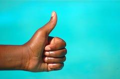 Ben positieve hand Stock Foto