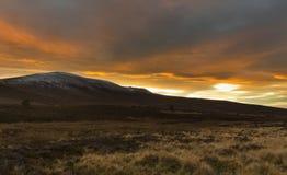 Ben Rinnes bei Sonnenuntergang. lizenzfreies stockfoto