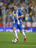 Ben Sahar in action. Israeli player Ben Sahar of Espanyol in action during a match against Malaga CF at the Estadi Cornella-El Prat on September 24, 2009 in Royalty Free Stock Photo