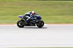 Ben Spies av det tävlings- laget för Yamaha fabrik Royaltyfria Foton