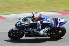 Ben Spies av det tävlings- laget för Yamaha fabrik Royaltyfri Fotografi