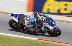 Ben Spies racing Royalty Free Stock Photo