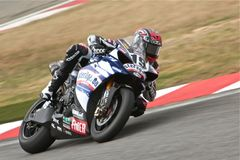 Ben Spies Superbike Yamaha. Rider:Ben Spies Number 19 Stock Photo
