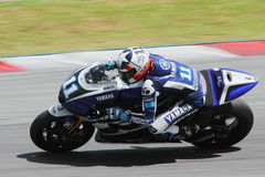 Ben Spies of Yamaha Factory Racing Team royalty free stock photography