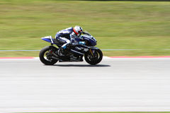 Ben Spies of Yamaha Factory Racing Team Royalty Free Stock Photos