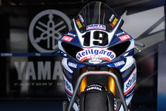 Ben Spies Yamaha YZF-R1 Royalty Free Stock Photos