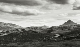 Ben Stack, Scotland. North west coast of Scotland. Ben Stack on the right royalty free stock photo