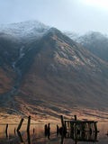 Ben Starav, Oude Pier, Loch Etive, Schotland stock fotografie
