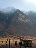 Ben Starav, vecchio molo, Loch Etive, Scozia Fotografia Stock
