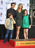 Ben Stiller & Christine Taylor & Ella Olivia Stiller & Quinlin Dempsey Stiller Royalty Free Stock Images