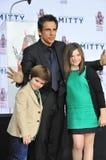 Ben Stiller & Ella Olivia Stiller & Quinlin Dempsey Stiller Royalty Free Stock Image