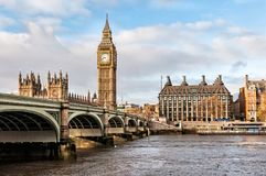 ben stor bro london westminster Royaltyfri Foto