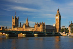 ben stor huslondon parlament Royaltyfri Fotografi