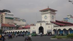 Ben Thanh Market stock footage