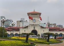 Ben Thanh Market dans Saigon Photographie stock