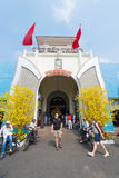 Ben Thanh Market decorated for Tet, Saigon Royalty Free Stock Photography