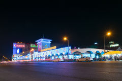 Ben Thanh Market en la noche, Saigon, Vietnam Imagen de archivo