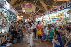 Ben Thanh Market in Ho Chi Minh City. Ho Chi Minh City, Vietnam - March 5, 2009: Ben Thanh Market in Ho Chi Minh City. This bustling market is one of the most royalty free stock images