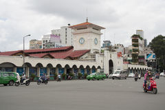 Ben Thanh market in Saigon Royalty Free Stock Photo