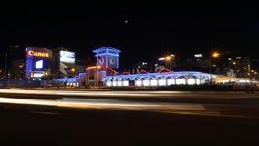 Ben Thanh nattmarknad i den Saigon - Ho Chi Minh staden Arkivbild