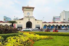 Ben Thanh rynek W Ho Chi Minh mieście Zdjęcie Stock