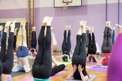 Ben upp på yogagrupp Royaltyfria Foton