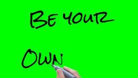 Ben uw eigen werkgever stock videobeelden