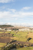Ben Wyvis and the Braes of Strathpeffer in Scotland. Ben Wyvis and the Braes of Strathpeffer from Knockfarrel hill in Scotland Royalty Free Stock Image