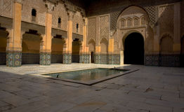 Ben Youssef Madrasa 2. The Ben Youssef Madrasa was an Islamic college in Marrakech and was named after the amoravid sultan Ali ibn Yusuf (reigned 1106–1142) Royalty Free Stock Photography