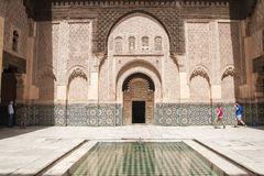 Ben Youssef Madrasa Arkivfoton