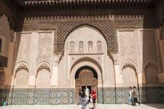 Ben Youssef Madrasa Arkivbilder