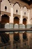 Ben Youssef Madrasa borggård Royaltyfri Bild