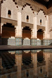 Ben Youssef Madrasa courtyard. MARRAKECH, MOROCCO, MAY 10, 2013 : The Ben Youssef Madrasa was an Islamic college in Marrakesh, Morocco, named after the Almoravid Royalty Free Stock Image