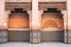 Ben Youssef Madrasa i Marrakech, Marocko royaltyfri fotografi