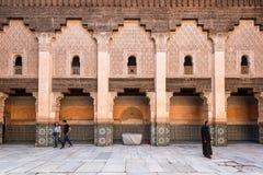 Ben Youssef Madrasa i Marrakesh, Marocko Arkivbilder