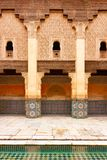 Ben Youssef Madrasa is an Islamic college and largest Madrasa in Marrakech, Morocco, Africa stock photography