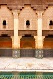 Ben Youssef Madrasa jest Islamskim szkołą wyższą wielkim Madrasa w Marrakech i, Maroko, Afryka fotografia stock