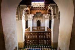 Ben Youssef Madrasa Marrakesh Arkivfoto