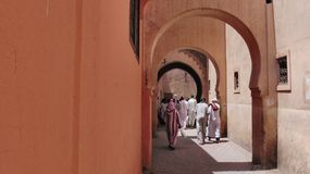 The Ben Youssef Madrasa, Morocco stock image