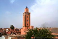 Ben Youssef Minaret, Marrakesh fotos de archivo