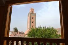 Ben Youssef Minaret, Marrakesh fotografía de archivo libre de regalías