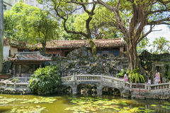 Ben-Yuan Lin�s Family Mansion and Garden sight view  ,Lili pool sight  view Royalty Free Stock Image