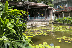 Ben-Yuan Lin's Family Mansion and Garden sight view  ,Lili pool close up view Stock Photo