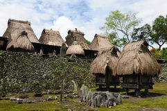 bena flores印度尼西亚村庄 免版税图库摄影